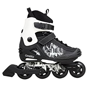 Oxelo Freeride-Skates Adult Inline, 8 UK (Black)