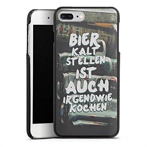 DeinDesign Apple iPhone 8 Plus Lederhülle schwarz Leder Case Leder Handyhülle Beer Bier Kochen