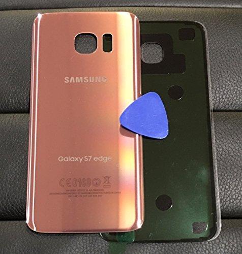 (ERGP) Galaxy S7Edge OEM PINK ROSE GOLD hinten Glas Lens Akku Tür Gehäuse Cover (keine Imei) + selbstklebend Ersatz für G935g935F g935a g935V g935p G935T mit Kleber und freie Öffnung Werkzeug (Ipad 3-bildschirm Oem)