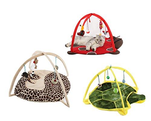 Preisvergleich Produktbild VERTAST Katze Hund spielen Aktivität Matte mit Maus Puppe Spaß Spielbett Pad, Giraffe