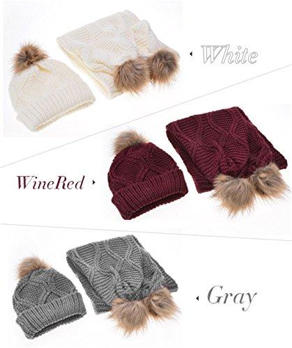 Romanstii - Ensemble bonnet, écharpe et gants - Femme Gris