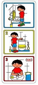 Henbea - Cartel pictórico higiene Aseo para niño (856)