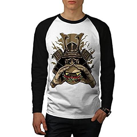 Hamburger Rüstung Japan Herren S Baseball lange Ärmel T-Shirt | Wellcoda