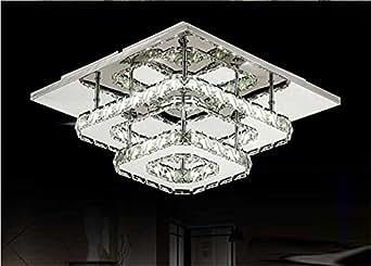 Plafoniere Per Soggiorno Prezzi : Lampadario di cristallo a led quadrato per corridoio