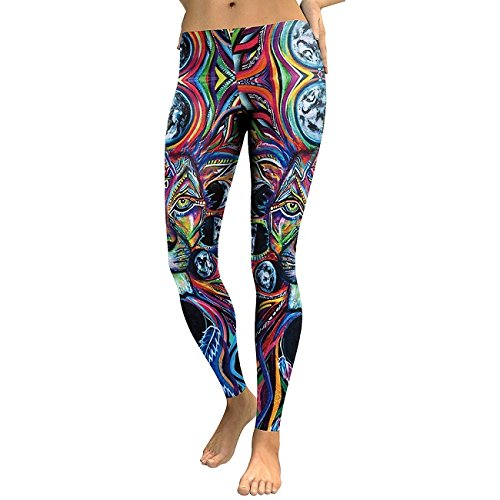 Collants Design Lion Animal 3D Printed Legging Couleur Huile Leggins Slim Pantalon Fitness élastique Pantalon Legins KDK1774 M