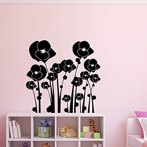 GJQFJBS Fleur Vinyle Sticker Mural Décor À La Maison Stikers Pour Le Salon Chambre Bricolage Pvc Décoration De La Maison Accessoires Rose L 43 cm X 43 cm