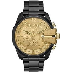 Diesel Reloj Dorado Cronógrafo para Hombre de Cuarzo con Correa en Acero Inoxidable DZ4485