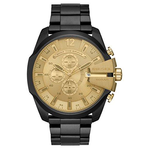 Diesel Herren Chronograph Quarz Uhr mit Edelstahl Armband DZ4485