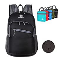 Lightweight Packable Backpack, 18L Foldable Hiking Daypack, Ultralight Outdoor Travel Camping Biking School Backpacking/Perfect for Men and Women, Light Weight Handy Folding Air Travelling Backpacks, Travel Backpack