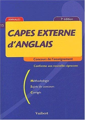 Capes externe d'anglais