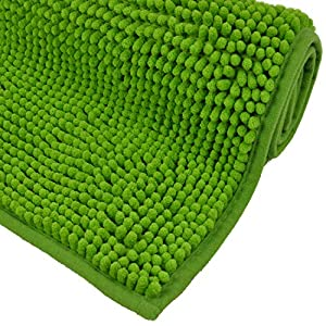 WohnDirect Badematte - Badezimmerteppich zum Set kombinierbar - rutschfest - Badvorleger - Waschbar - Duschvorleger - Badteppich - 50x80cm - Grün