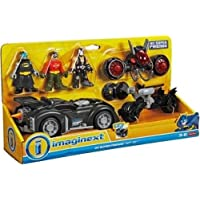 Fisher Price - DC Super Friends - Imaginext - DC Super Friends Gift Set- Includes Batman, Robin & Bane Mini Figures, 3 Vehicles and Accessories!