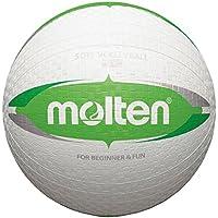 10x Molten Softball s2V1550de inodoro s2V1550de WG s2V1550de WP suave niño pueblos pelota de Escuela + RS de Sports Bolígrafo, blanco/verde, 155g, Ø 200 mm155 g