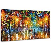 raybre art cuadros abstractos pintada a mano lluvia calle enorme hogar pared decoracin modernos