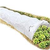 JYCRA Pflanztunnel, Mini-Gewächshaus, 4,8 ml, Vliesstoff, 7 Stück Eisen-Reifen für Gewächshaus, Gartenpflanzen, Schutz und Anbau