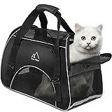 Hundetasche, Terra Hiker Hundetragetasche, Katzentragetasche, Tragetasche Transporttasche Transportbox für Kleine Hunde und Katzen, 3-5 KG (Schwarz)