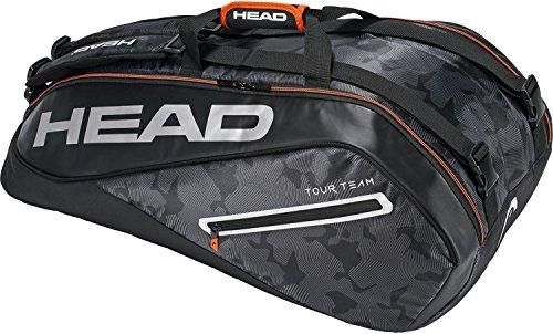 Head Tour Team 9R Supercombi Bolsa para Raquetas de Tenis, Color Negro/Plata, tamaño n/a