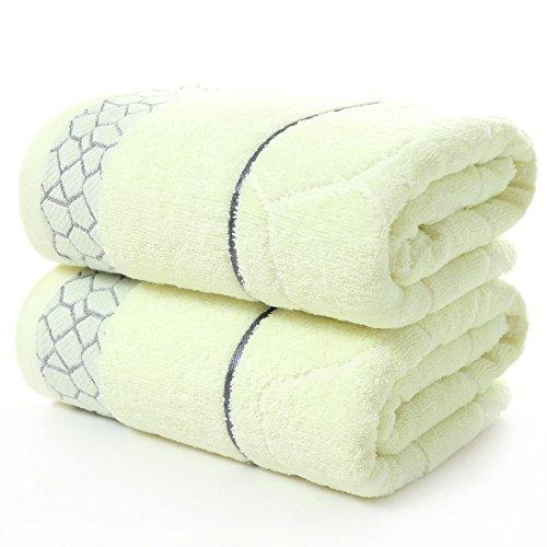 JUNCHEN 1 Stücke 70 * 140 Cm Plaid Muster Jacquard Weichen Badetuch Für Erwachsene Haar Hand Bad Handtücher, A (Jacquard-bad)