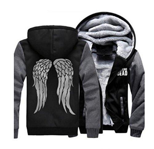 Kostüm Daryl Dead Dixon Walking - The Walking Dead Daryl Kapuzenjacke Dixon Flügel Hoodie Pullover Cosplay Kostüm WinterJacke