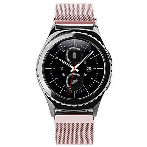 feiliandajj Armbanduhr Band, Fashion Slim Design Edelstahl Sleeve Armband Strap für Samsung Gear S2Classic sm-r732, Herren Kinder damen, rose gold
