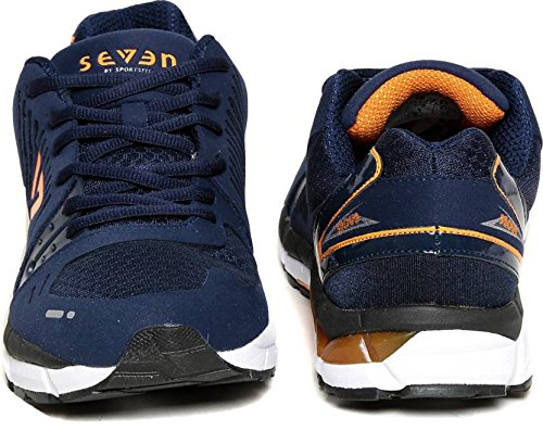 Seven Poseidon Patriot Blue Orange Peal Running Shoes  (Blue)