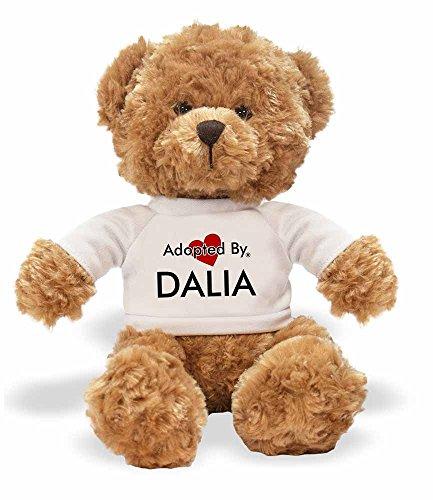 AdoptedBy TB1Dalia Teddy Bär Tragen Einen Wunschnamen T-Shirt Dalia Bar