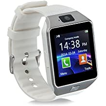 Smart Watch Bluetooth GT08, reloj de pulsera para Android Samsung HTC LG Sony Huawei (todas las funciones), iOS iPhone 5/5S/6/Plus, DZ09 With Camera white
