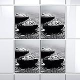 4 pop.up Fliesen 15 x 20 cm Fliese Aufkleber Folie Fließen Bad Küche Dekor Natur (Stone III)