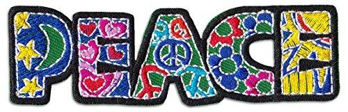 Peace Art Aufnäher Aufbügler Patch Sommer Frieden AntiWar Kunst Hippie Goa Trance (Arten Von Goa)