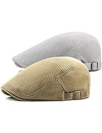 DecStore 2 Pacco Uomo Cotone Cappuccio Berretti Edera Cappelli Guida  Cappelli Estate Vintage Hat 1e3363626876