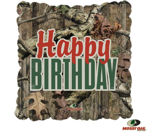 Oak Mylar 43,2 cm quadratisch Ballon Camo Camouflage Hunter Party ()