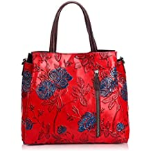 ef32ae49b0c56 APHISONUK Handtaschen für Frauen Designer Satchel weiche Kuh Leder Tote  Handtaschen Schultertaschen