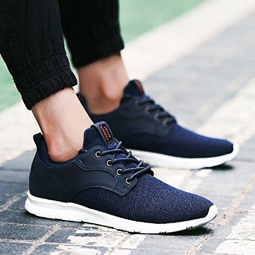 Joyto Mens Running Maglia Leggera Casual Sportiva Fitness Scarpe Sneakers Traspirante Nero Blu Verde 39-44 Blu