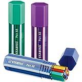 Premium-Filzstift - STABILO Pen 68 - 20er Big Pen Box - mit 20 verschiedenen Farben