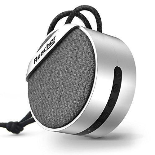 Füßen 4 Micro-usb-kabel Mit (Reacher Portable Mini Bluetooth Lautsprecher MP3 Player, TF / Micro SD Karte, 3,5 mm AUX, Eingebautes Mikrofon für Anrufe für iPhone, iPod, iPad, Samsung, Echo, LG und andere)