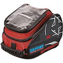 ol276–Oxford moto motocicleta x4QR–Bolsa de depósito–rojo