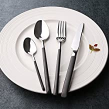 AECHOO cubertería 4 piezas Cena Tenedor Cuchara de café té cucharas de postre Cuchillo 18/