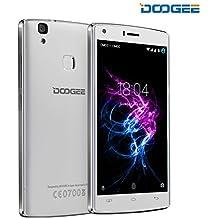 Smartphone Libres, DOOGEE X5 MAX PRO Telefono Móvil Libre Baratos (Dual SIM, 5 Pantalla IPS, 8MP Cámara, 2GB RAM+16GB ROM, 4000mAh, Android 6.0, Huella Dactilar, 4G LTE Móvils) - Blanco