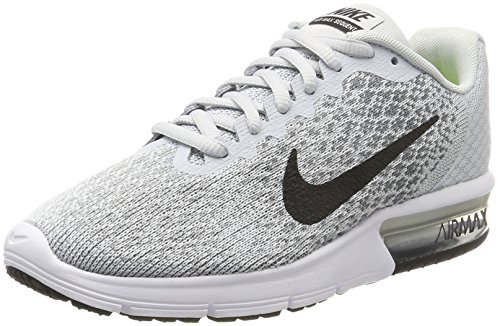 Nike Women's Air Max Sequent 2 Running Shoes, Grey (Pure Platinum/Black Cool...
