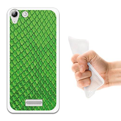 WoowCase Wiko Selfy 4G Hülle, Handyhülle Silikon für [ Wiko Selfy 4G ] Tier Grüne schlangehaut Handytasche Handy Cover Case Schutzhülle Flexible TPU - Transparent