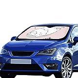 Plosds Auto Windschutzscheibe Abdeckung Katze Essen Fisch Einfache Sonnenblende Universal Fit Halten Auto Fahrzeug Cool Reflektor Limousinen Geländewagen LKW 55