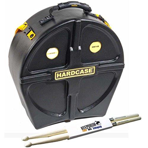 """Hardcase HN14S Snare-Case 14\"""" Trage-Koffer + keepdrum Drumsticks"""