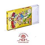 5 Klarsicht Schutzhüllen SUPER NINTENDO [5 x 0,5MM [ARMOURED] SNES OVP] Spiele Originalverpackung Passgenau Glasklar -