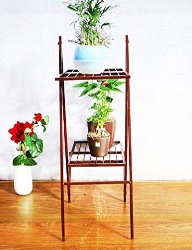 YWMBJK Blume Racks Pflanze Eisen Einfache Idee Landung Blumentopf Rack Mehrere Schichten Innen Wohnzimmer Balkon Bonsai Rahmen Ideal Gärtner Geschenk,1