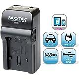 Bundlestar Baxxtar RAZER 600 (70% mehr Leistung 100% mehr Flexibilität) Ladegerät 5 in 1 für Panasonic VW VBT190 VBT380 VBK180 VBK360 --- Für für Panasonic HC VXF999 VX990 VX989 VX980 VX878 V130 V160 V180 V250 V270 V380 V550 V550CT V757 V777 W570 W580 W858 WX979 -- HC V727 V520 V510 V210 V110 -- HC V707 V500 V100 V10 usw. NEUHEIT mit Micro USB Eingang und USB-Ausgang, zum gleichzeitigen Laden eines Drittgerätes (iPhone, Tablet, Smartphone..)