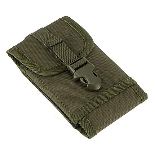 HWZ Tactical Outdoor Waist Belt Sports Bag Phone Belt Molle Smartphone Pouch for Practical Belt Pouch for Mobile Phone,for iPod, Camera, etc with Slim Case (Green) -
