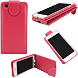 G4GADGET® Apple iPhone 5/5S Hot Pink Flip Wallet PU Leather Case Cover with Two Card slots For Apple iPhone 5/5S