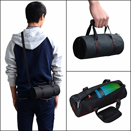 Haodasi Tragbar Hand Hülle Tasche Beutel tragen Case Cover Bag Box Pouch Rucksack Umhängetasche für JBL Pulse 2 /Pulse 3 JBL Charge 3 Logitech UE Megaboom Bluetooth Lautsprecher/Makeup Purse Phone Black