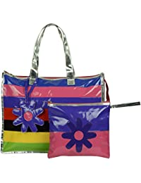 Kyddoz Leatherite 3.5 Litre Multi-Colour Beach Tote Bag