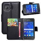 Funda Libro para Samsung Galaxy Young 2 (G130H , 3.5 pulgada), Ycloud Suave PU Leather Cuero Con...